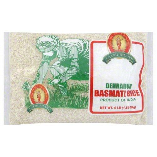 Laxmi All-Natural Gourmet Dehraduni White Basmati Rice - 4 Pounds (Best Quality Rice In Pakistan)