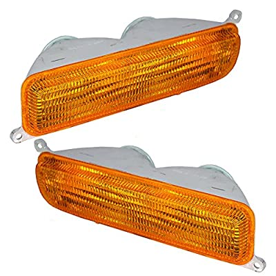 Driver and Passenger Park Signal Front Marker Lights Lamps Lenses Replacement for Jeep SUV 55055143 55055142: Automotive
