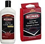 Weiman Cook Top Scrubbing Pads with Glass Cook Top Cleaner & Polish Bundle