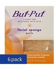 Buf-Puf Reusable All-Purpose Facial Sponge, Gentle (Pack of 6)