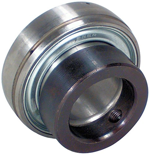 0.75 Inch Insert Bearing - Peer Bearing FH204-12 Insert Bearing, FH200-G Series, Narrow Inner Ring, Spherical Outer Ring, Non-Relubricable, Eccentric Locking Collar, Single Lip Seal, 3/4