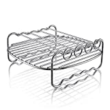 Hiware Air fryer Rack - Fits all 3.7QT – 5.8QT - Multi-purpose Double Layer Rack with Skewers Compatible with Phillips, Gowise etc