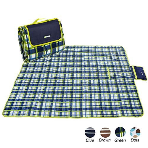 Apollo Bar - apollo walker Extra Large Waterproof Camping Blanket Mat Fleece Picnic Blanket Tote,Suitable for Outdoor Travel, Barbecue, Camping Life.(80x60-Inch)(Green)