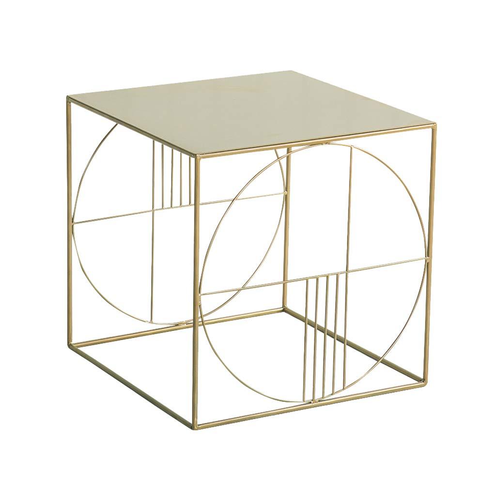ベッドルームのベッドサイドテーブル、モダンなミニマリストの正方形のコーヒーテーブル - リビングルームのバルコニー錬鉄製のラウンジテーブル - 家の装飾植物スタンド B07NPLPMDR