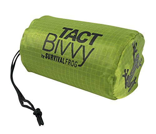 Tact Bivvy Compact Ultra Lightweight Sleeping Bag - 100% Waterproof Ultralight Thermal Bivy Sack Cover, Emergency Space Blanket Liner Bags for Emergency Shelter, Tent Camping & Survival Gear Kit