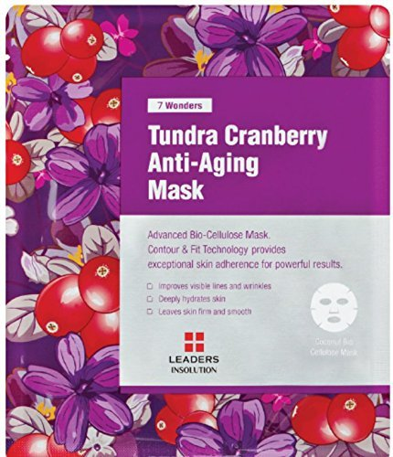 [LEADERS] 7 WONDERS Tundra Cranberry Anti-Aging / Premium Grade Coconut Gel Mask (Bio Cellulose) / 1 Sheet Mask