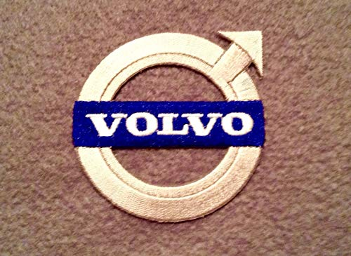 (VOLVO IRON ON EMBROIDERED PATCH PATCHES .... SIZE 2.5 INCHES .... EMBROIDERY 100% CARS AUTOS AUTOMOBILE RANGE RACING)