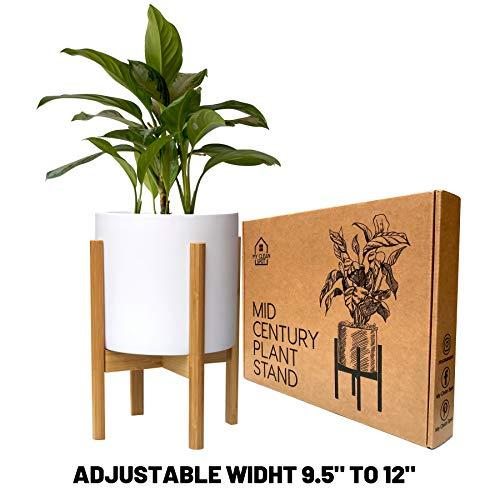 MCS Mid-Century Plant Stand│Adjustable Modern Stand 9.5-12