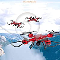 Hanbaili Remote Control Drone With 1.3 Million Pixels Camera + Built-in 4G TF Card,CE Certification Altitude Hold RC Drone with Headless Mode for Kids