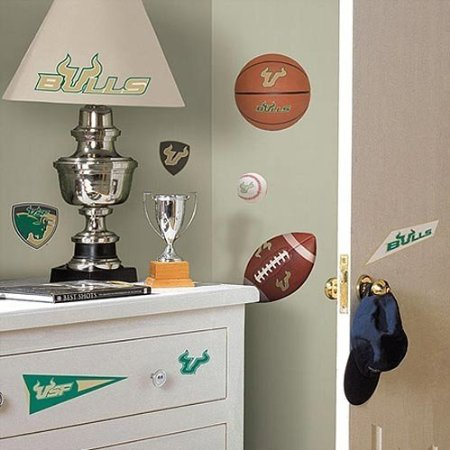 South Florida Bulls Peel and Stick Applique / Wall Decal Set