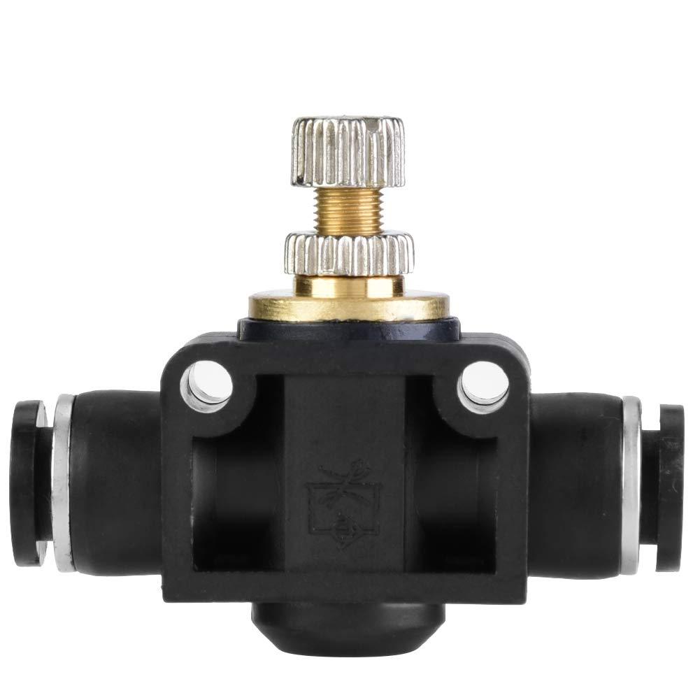 6mm 4//6//8mm Tube Air Flow Controller T Shape Pipe Fitting Hose Regulator Valve Pneumatic Fitting