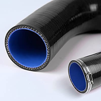 Black Silicone Radiator Coolant Hose Kit Clamps For KAWASAKI ZX7R 1996 1997 1998 1999 2000 2001 2002 2003: Automotive