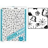 "Deleter Screen Tone Jr JR-145 [Chibi Kaiju and Houses Pattern][Sheet Size 182x253mm (7.16""x9.96"")] For Comic Manga Illustration Graphic Screentone"