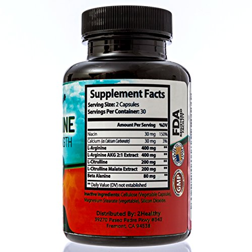 Extra Strength L Arginine 1300mg N.O. Nitric Oxide Booster for Muscle Builder, Vascularity & Energy | Cardio Heart Supplement With L Citrulline | Essential Amino Acids To Workout Stronger