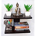 Dime Store Wall Shelf for Home Decor Items Wall Shelves for Living Room(Standard, Brown)