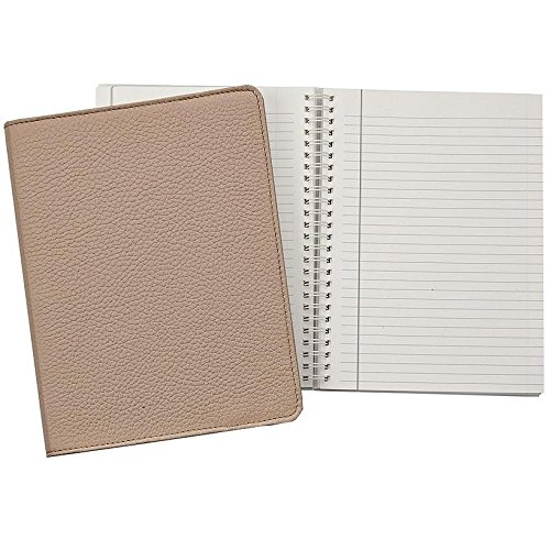 Wire-O-Notebook 9-inch Sand PEBBLE GRAIN Fine Leather by Graphic Image™ - 7x9 by Graphic Image