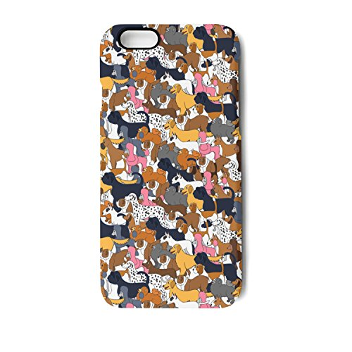IPhone 7 Plus/8 Plus Case Cute Cartoon Different Dogs Bumper Matte TPU Soft Rubber Silicone Protective Back Cover