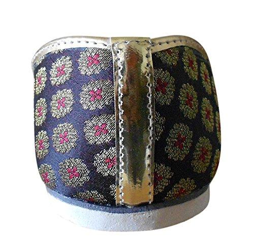 Kalra Creations - Zapatillas de estar por casa de Seda para hombre Multicolor