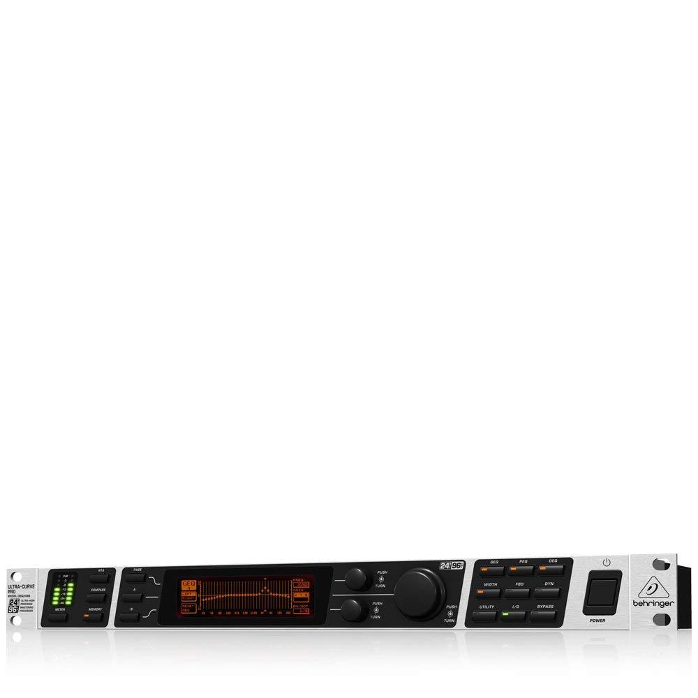 Behringer Ultracurve Pro DEQ2496 Ultra-High Precision 24-Bit/96 kHz Equalizer, Analyzer, Feedback Destroyer and Mastering Processor (Certified Refurbished) by Behringer (Image #1)