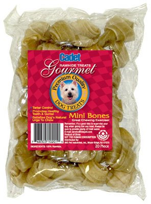 IMS Trading C10201-6 Gourmet Dog Treats, Beef Rawhide Bone, 2-1/2-In, 20-Pk. - Quantity 10 ()