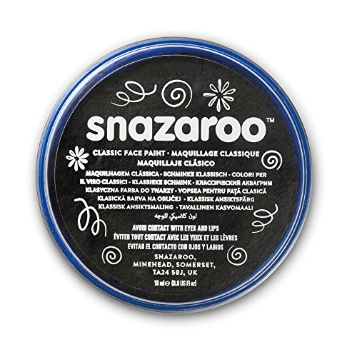 Snazaroo 1118111 Classic Face Paint, 18ml, Black -