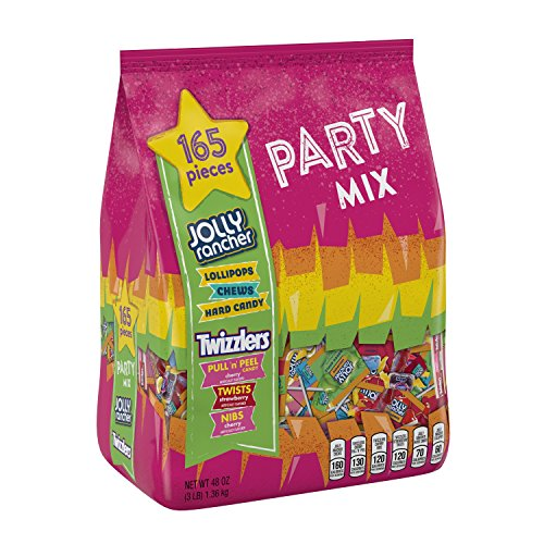 HERSHEY'S Assorted Fun Size Candy Bag (JOLLY RANCHER & TWIZZLERS), Easter Basket Filler Candy  (About 165 Pieces)