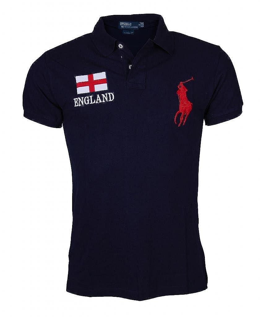 Ralph Lauren Mens Polo Shirt Polo England Custom Fit Navy Uk Sm