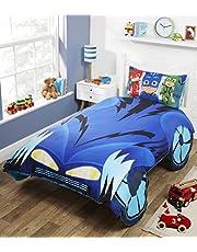 PJ Masks Catboy's 'Cat-Car' sängkläder set för enkelsäng, polyesterbomull, flerfärgad