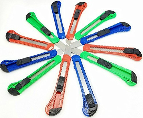 12 Box Cutters Openers Utility Knives with Snap off Blades. Every Day Tools.