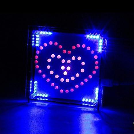 Brilliant Amazon Com Doradus Diy Full Color Rgb Heart Shaped Led Flashing Kit Wiring 101 Capemaxxcnl