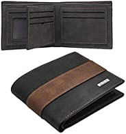Leather Bifold Wallet for Men, Front Pocket RFID Blocking Wallets PU Slim Travel Wallet with Gift Box (Light B
