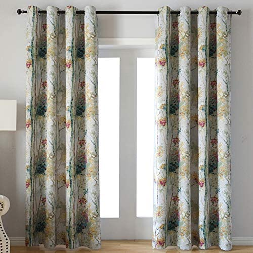 Floral Design Digital Print Window Drape