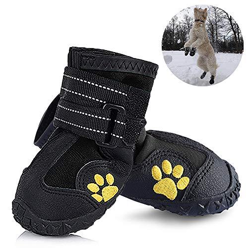 weyio zapatos perro resistente al agua botas de perro antideslizante nieve senderismo botas de correr caliente paw zapatos...