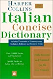 Italian Concise Dictionary, HarperCollins Publishers Ltd. Staff, 0060956771