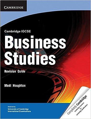 cambridge igcse business studies revision guide cambridge