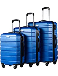 Luggage 3 Piece Set Suitcase Spinner Hardshell Lightweight TSA Lock 4 Piece Set