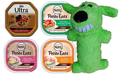 Nutro Small Breed Dog Food 4 Flavor 8 Can Toy Bundle:  Ultra