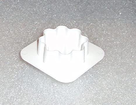 Tupperware Mini molde para galletas canapés masa queso cortador de Gadget blanco: Amazon.es: Hogar