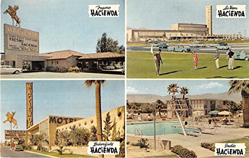 Indio California And Various Other Locations Hacienda Vintage Postcard V18081