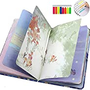 Colorful Blank Writing Journal for Women,TOMOLUCKY PU Leather Hardcover Notebooks Beautiful Journal to Write i