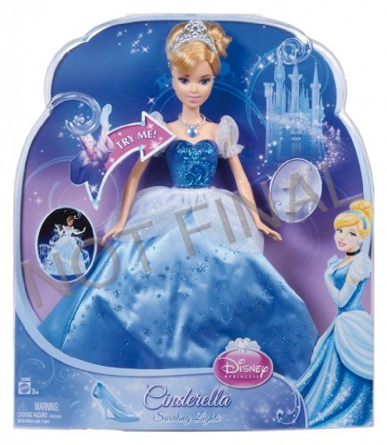 Cinderela Dress (Toy / Game Disney Princess Swirling Lights Cinderella Doll With Matching Necklace - A Great Gift To Any Fan)