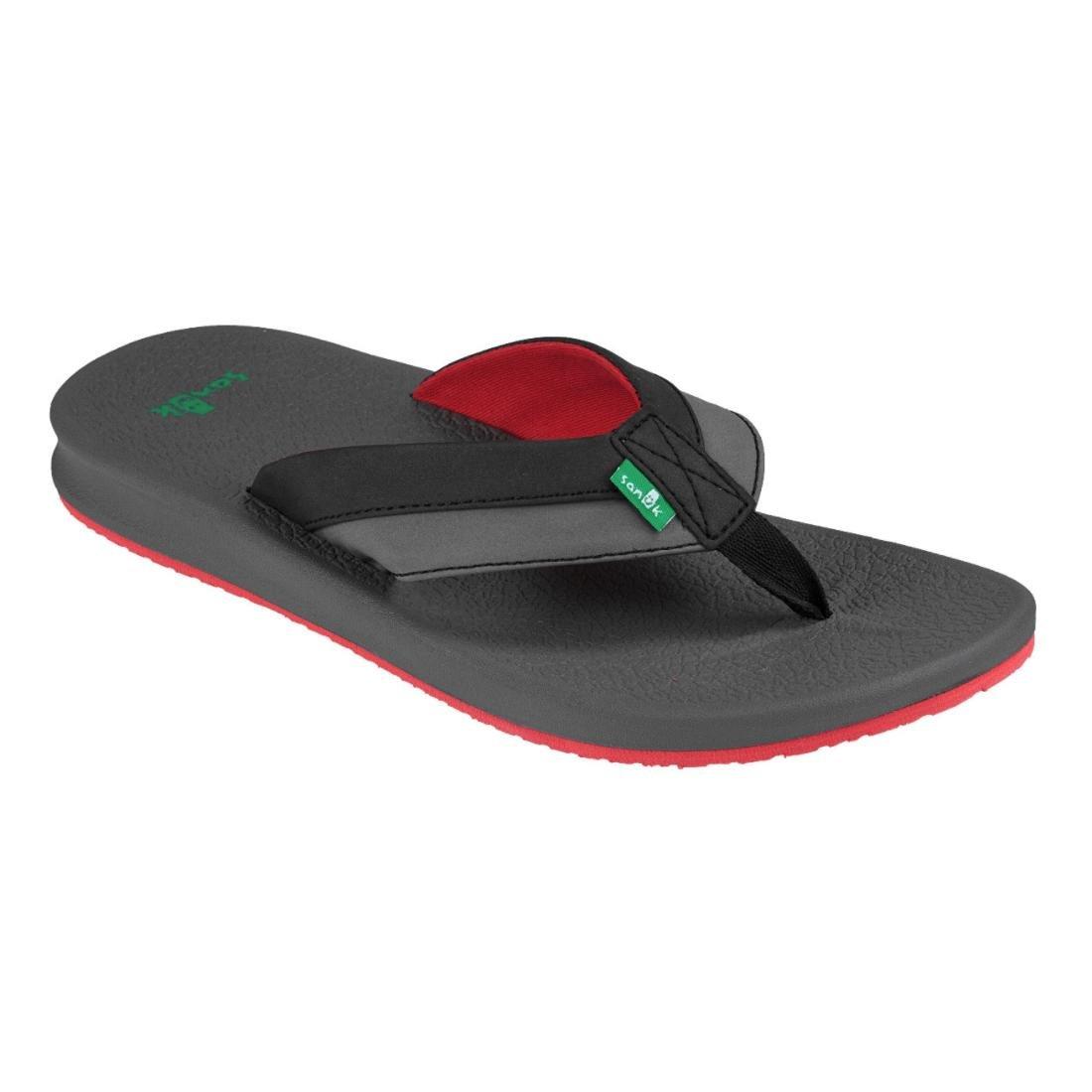Sanuk para hombre brumeister sandalias calzado 41 EU Negro/Carbón/Rojo