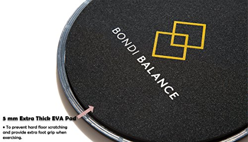 Bondi Balance Gliding Discs Hot Pink Dual Sided Core Sliders for both Carpet and Hard Floor Workouts Bonus Core and Glute Workout Ebook Train Anywhere Anytime Travel or Home