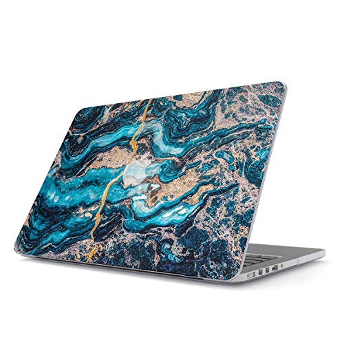 BURGA Hard Case Cover Compatible with MacBook Pro 15 Inch Case Release 2012-2015, Model: A1398 Retina Display NO CD-ROM Crystal Blue Marble