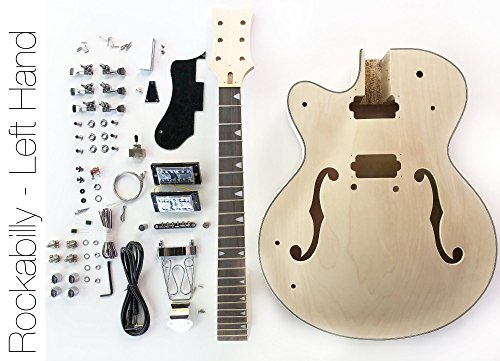 DIY Electric Guitar Kit – Left Hand Hollow Body Build Your Own Guitar Kit