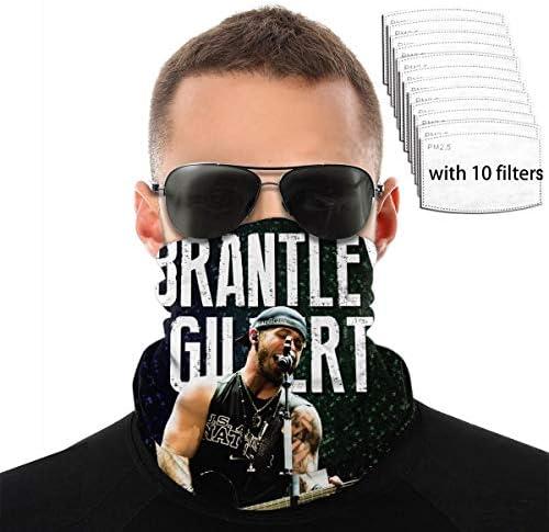 Brantley Gilbert All Seasons Face Mask Neck Scarf Sunscreen Dustproof Windproof Breathable Elasticity Outdoor Activities Mask Light