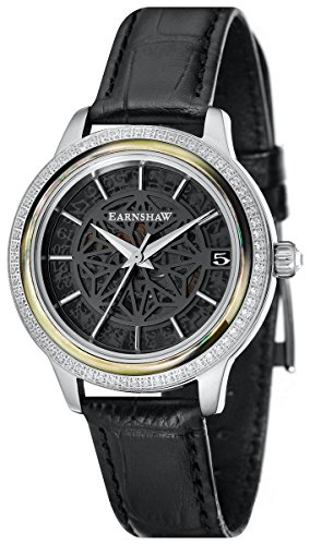 Thomas Earnshaw Womens The Lady Kew Watch - Black/Silver