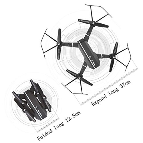2.4G 4CH Altitude Hold RC Quadcopter Pocket Drone Selfie Foldable Without Camera Practical Dreamyth (Black) by Dreamyth