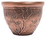 large outdoor copper planters - Vine Pattern Greek Style Rustic Look Plastic Planter 10X8