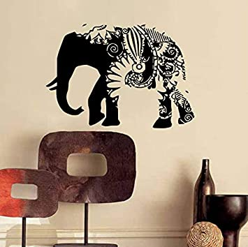 Zyzdsd Ganesha Tatuajes De Pared Elefante Indio Pegatina De Vinilo ...